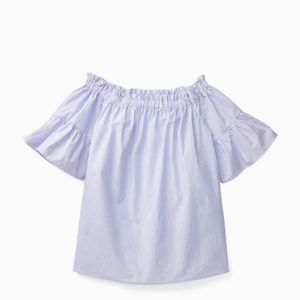 NWOT Kate Spade Off the shoulder Ruffle Top